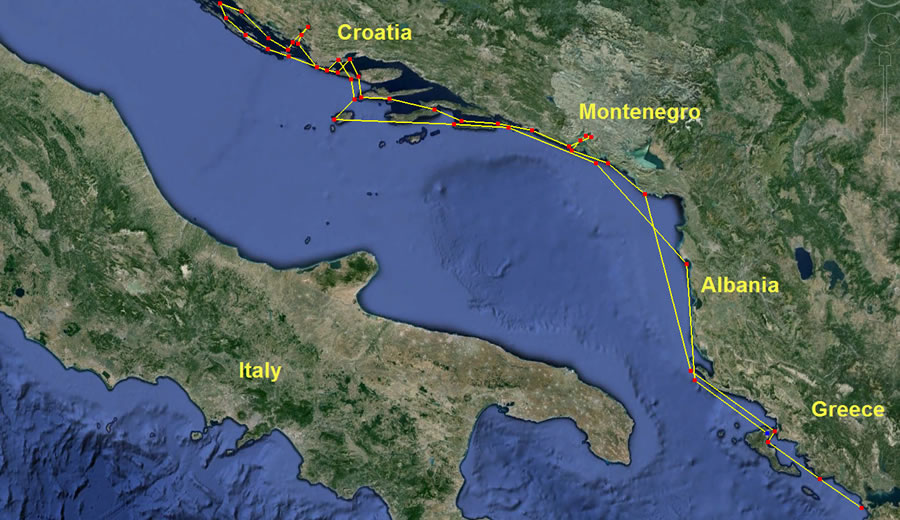 2013 cruise route